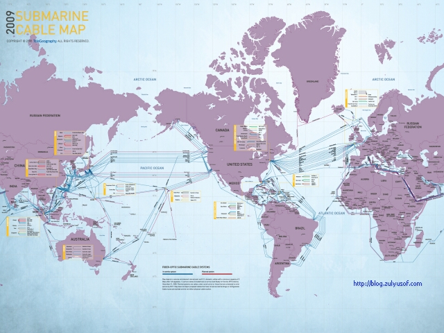 Submarine Cable Map 2009
