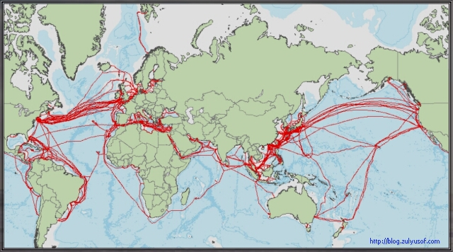 International Cable Routes