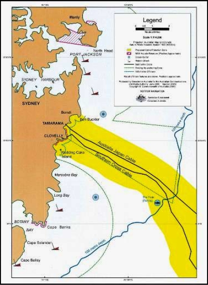 New protection zones (yellow) for Australia
