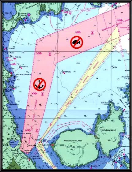 Protection zone for Southern Cross cable terminal, New Zealand